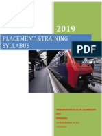 Placement and Training Syllabus