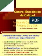 8.- Análisis de Capacidad de Proceso Cp y Cpk. Rev.