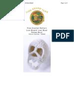 Crochet Pattern Felted Skull 70464A