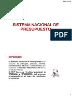 Sistema Nacional de Presupuesto..