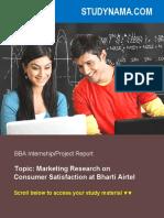 Marketing Research on CSAT Airtel