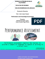 performance and knowledge assessment