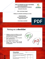 rating on a checklist and rating on a scale assessment