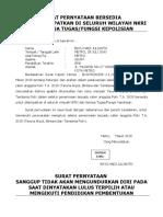 Surat Pernyataan Ditempatkan Dimana Saja
