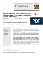 Bloqueo Anestésico de Nervios Pericraneales en Migraña