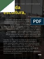 Carta a la escultura costarricense