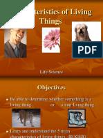 Characteristics of Living ThingsI fxghxgfh