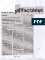 Manila Standard, May 29, 2019, Bill creating OFW hospital okayed.pdf