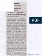 Manila Standard, May 29, 2019, House wants masterplan to avoid repeat of water shortage.pdf