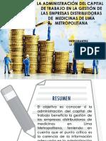 La Administración Del Capital de Trabajo en La Gestión de Las Empresas