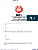 Rrb Mathematics Question Exams Paper Solved
