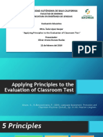 applying principles to the evaluation of classroom test