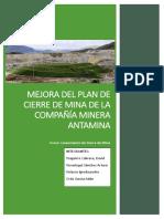 Plan de Cierre de Mina de Compañía Minera Antamina
