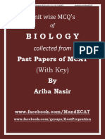 Biology Unitwise MCQ_s (MCAT)
