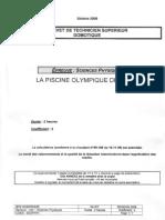 BTS DOMOTIQUE Sciences Physiques 2009