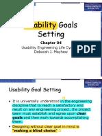 07 Usability Goals Setting