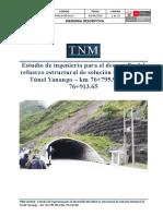 Proyecto de Rehabilitación del Falso Túnel Yanango