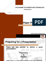 How to Make a Paper Presentation