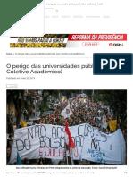O Perigo Das Universidades Públicas (Por Coletivo Acadêmico) - Sul 21
