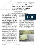 Experimental Study on the Structural Retrofitting of RC Beam Using Synthetic Steel Mesh Fiber and High Strength Aramid Kevlar Fiber Reinforced in Concrete Beam