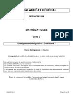 Amerique Maths S Obligatoire 2019