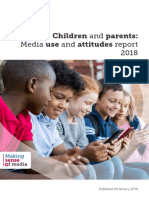 Children and Parents Media Use and Attitudes 2018