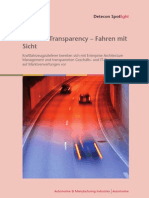 Business Transparency - Fahren mit Sicht. Kraftfahrzeugzulieferer bereiten sich mit Enterprise Architecture Management und transparenten Geschäfts- und IT-Strukturen auf Marktverwerfungen vor (Detecon Spotlight)