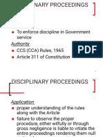 Departmental proceeding