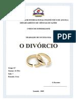 Trabalho Sobre o Divórcio Em Angola