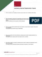 Worksheet for Considering Internal Stakeholders Needs