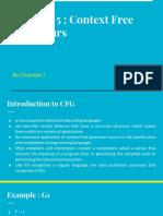 Chapter 5 Context Free Grammars