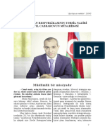 Interview of Mikayil Jabbarov, Minister of Education of the Republic of Azerbaijan