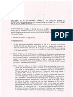 Informe de los letrados del Senado sobre la suspensión de Raül Romeva