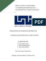 Proyecto de Control de Velocidad de un motor en CD