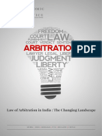 The Changing Landscape of Arbitration in India July 2018