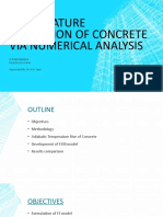Numerical analysis of concrete temperature using semi-adiabatic test Presentation 6