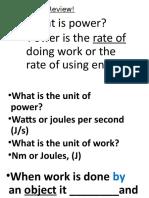 Work, Power, Energy Quiz