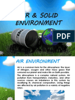 Air and Solid Environment