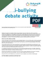 Debate Activity Anti-bullying