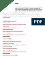Cisco router commans sheet  codes