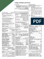 DSA Wichtige Tabellen Und Werte