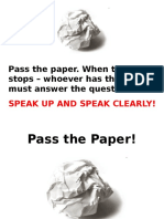 Unit 7 Speaking Pass the Paper
