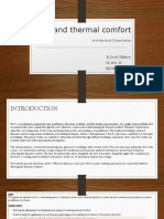 Roof and thermal comfort