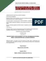 Ley de Los Derechos de Los Niños Niñas y Adolecentes en La Ciudad de México