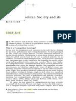 Cosmopolitan Society and Its Enemies