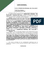 Carta Notarial Federacion