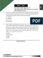 BoSoN Sample Paper Class VIII