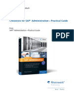 Checklists for SAP Administration Practical Guide