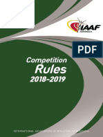 IAAF Competition Rules 2018-2019, In Force From 1