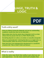 Language Truth and Logic IB and a Level